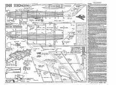 kkt dh110 model airplane plan