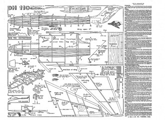 De Havilland 110 Keil Kraft. model airplane plan