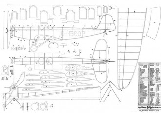 Klemm - Tiefdecker KL.25 model airplane plan