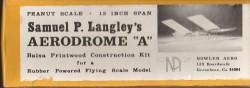 aerodrome model airplane plan