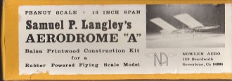 aerodrome model airplane plan