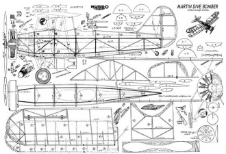 Martin Dive Bomber model airplane plan