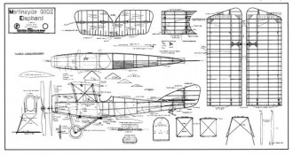 Martinsyde G102 Elephant model airplane plan