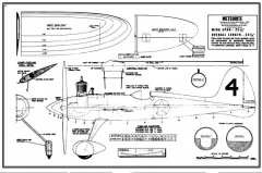 McCullogh Meteorite model airplane plan