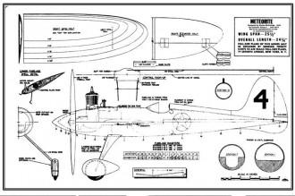 McCullogh Meteorite model airplane plan
