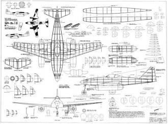 Me 262 A model airplane plan