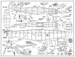 Messerschmitt Bf-109E model airplane plan