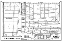 Mirage model airplane plan