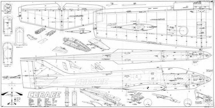 MK CURARE .60 model airplane plan