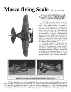 Mosca I 16 Russian Fighter model airplane plan