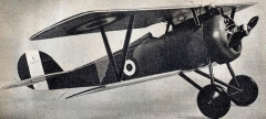 Nieuport Scout model airplane plan