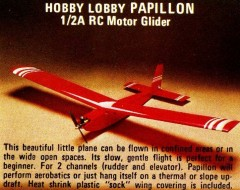 PAPILLON model airplane plan