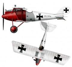 Pfalz DIII model airplane plan