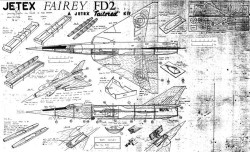 Fairey Delta 2 (FD2) model airplane plan