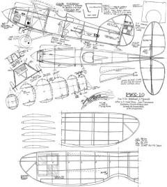 PSW 10 model airplane plan
