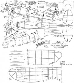 PSW 10 model airplane plan