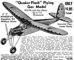 Quaker Flash model airplane plan