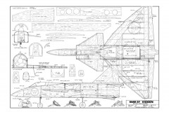 saab 37 viggen 120cm model airplane plan
