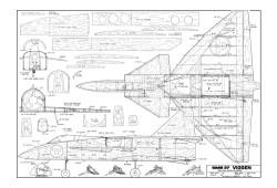 saab 37 viggen 120cm model airplane plan