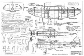 Seafire MK XVII model airplane plan