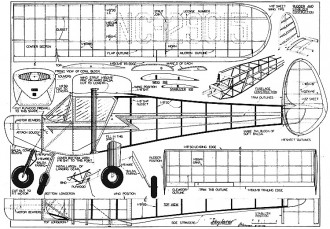 Skyfarer 70in model airplane plan