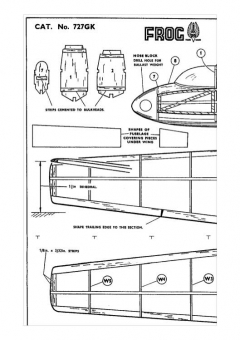 Slingsby Skylark Sailplane model airplane plan