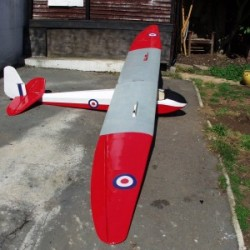 Slingsby T21B model airplane plan