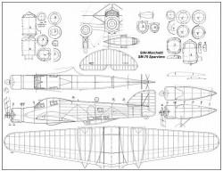 Savoia-Marchetti SM.79 Sparviero model airplane plan