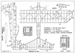 Sportster model airplane plan
