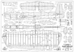 Super Master model airplane plan