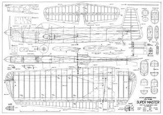 Super Master model airplane plan