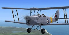De Havilland Tiger Moth model airplane plan