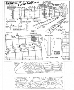 FW 190 A3 model airplane plan