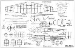 Verville Sperry R-3 model airplane plan