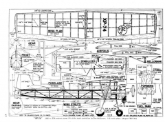 XP-74 model airplane plan