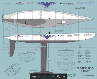 AMERICA 3 model airplane plan