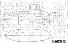 ARTUR model airplane plan