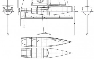 BLUE SPLASH model airplane plan