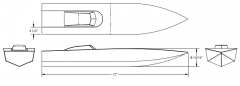BOAT 72 model airplane plan