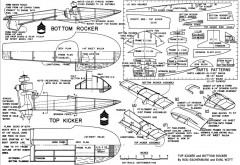 BOTTOM ROCKET model airplane plan