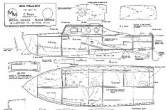 SEA FALCON model airplane plan