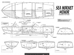 SEA HORNET MINOR model airplane plan