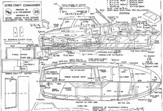 CHRIS CRAFT COMMANDER model airplane plan