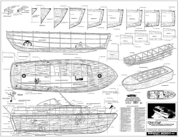 Chris Craft Constellation model airplane plan