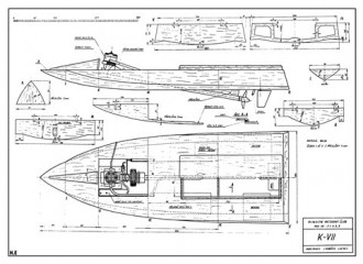 K-VII model airplane plan
