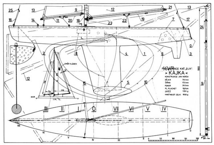 Kajka model airplane plan