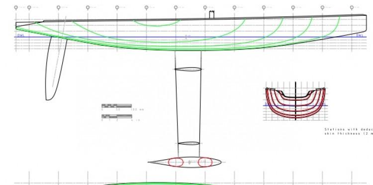 LUNA ROSSA model airplane plan