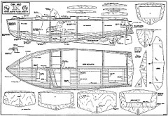 Ohm Maid model boat plan model airplane plan