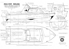 POISSON ROUGE model airplane plan