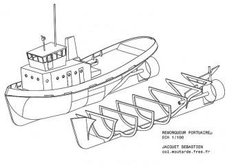 TUG BOAT HARBOUR model airplane plan
